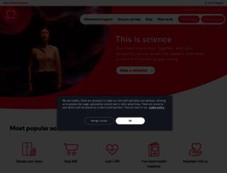 bhf.org.uk screenshot