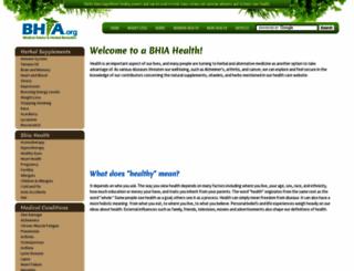 bhia.org screenshot