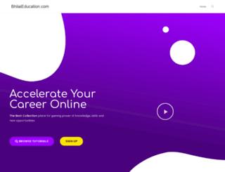 bhilaieducation.com screenshot