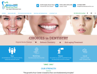 bhimanidentalcareclinic.com screenshot