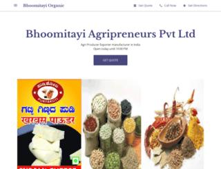bhoomitayiagri.com screenshot