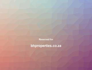 bhproperties.co.za screenshot