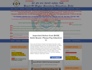 bhsedelhiboard.net screenshot