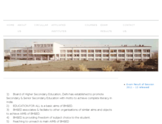bhsedelhiorg.org screenshot
