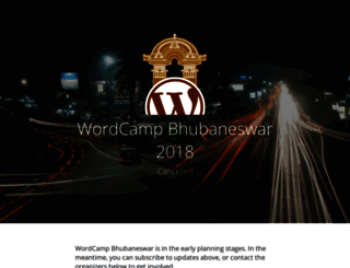 bhubaneswar.wordcamp.org screenshot