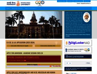 bhuonline.in screenshot