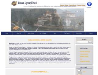 bhutanupwardtravels.bt screenshot