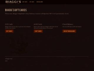 biaggis.myguestaccount.com screenshot
