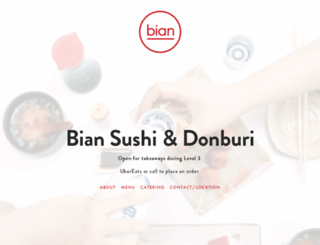 biansushi.co.nz screenshot