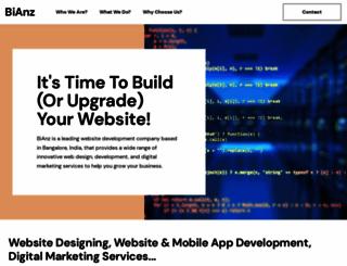 bianz.in screenshot