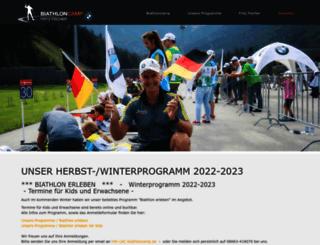 biathloncamp.de screenshot