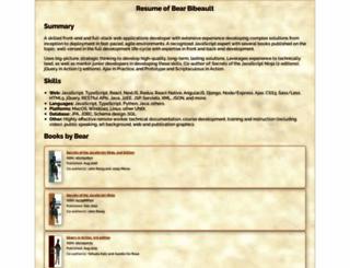 bibeault.org screenshot