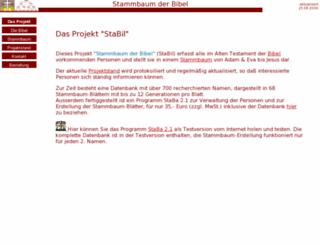 bibelstammbaum.de screenshot