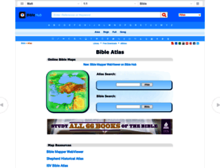 bibleatlas.org screenshot