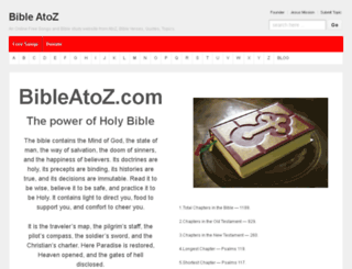 bibleatoz.com screenshot