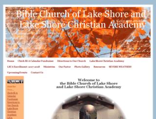 biblechurchoflakeshore.org screenshot