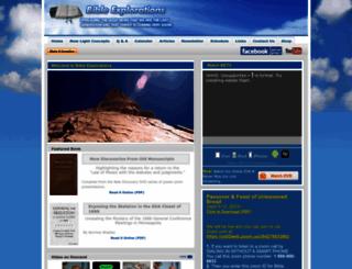bibleexplorations.info screenshot