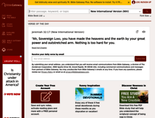 biblegateway.com screenshot