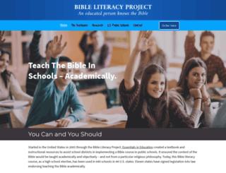 bibleliteracy.org screenshot