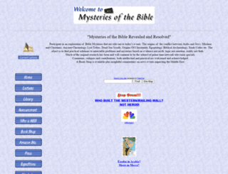 biblemysteries.com screenshot