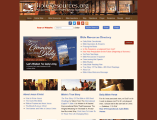 bibleresources.org screenshot