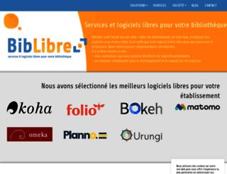 biblibre.com screenshot