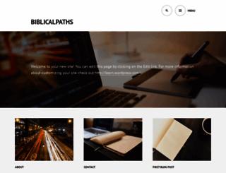 biblicalpaths.wordpress.com screenshot
