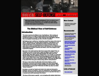 biblicalselfdefense.com screenshot