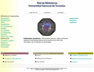 biblio.unt.edu.ar screenshot