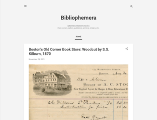 bibliophemera.blogspot.com screenshot