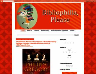 bibliophiliaplease.com screenshot