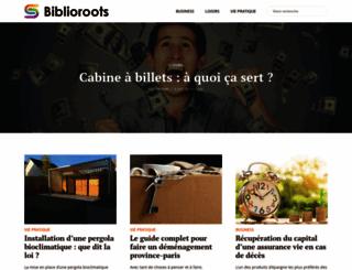 biblioroots.fr screenshot
