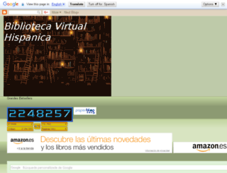 biblioteca-virtual-hispanica.blogspot.com screenshot