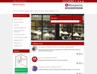 biblioteca.blanquerna.edu screenshot