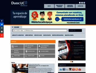biblioteca.duoc.cl screenshot
