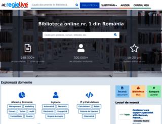 biblioteca.regielive.ro screenshot
