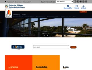 biblioteca.ua.es screenshot
