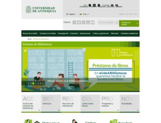 biblioteca.udea.edu.co screenshot