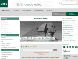 biblioteca.uned.es screenshot