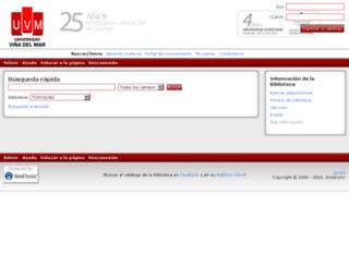 biblioteca.uvm.cl screenshot