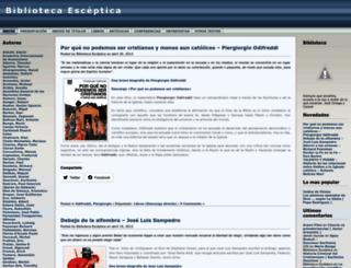 bibliotecaesceptica.wordpress.com screenshot