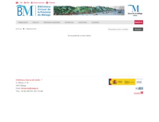 bibliotecavirtual.malaga.es screenshot