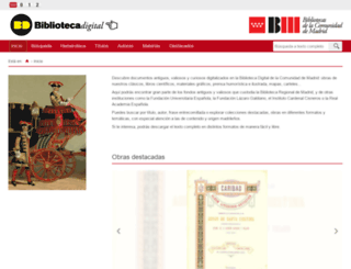 bibliotecavirtualmadrid.org screenshot