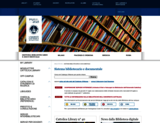biblioteche.unicatt.it screenshot