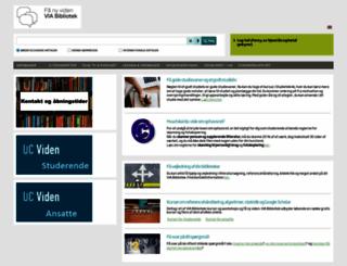 bibliotekerne.via.dk screenshot