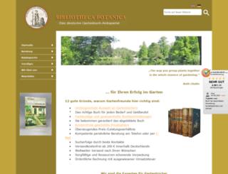 bibliotheca-botanica.de screenshot