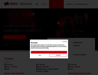 bibliothek.dhbw-mosbach.de screenshot