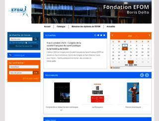 bibliotheque.efom.fr screenshot