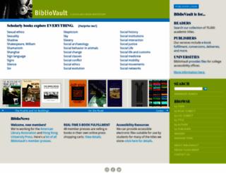 bibliovault.org screenshot