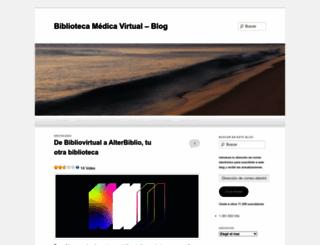 bibliovirtual.wordpress.com screenshot